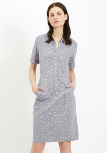 Alexis Shirt Dress Grey - People Tree