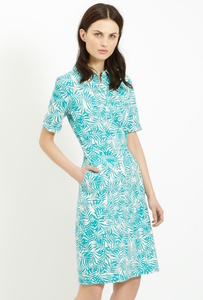 Alexis Shirt Dress Green - People Tree