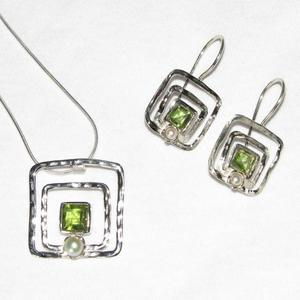 Silber-Schmuckset GREEN & BRIGHT Fairtrade - SANYALA