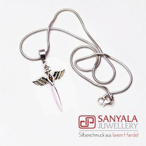 Silber-Anhänger 'SWORD' roter Granat - Fairtrade - SANYALA
