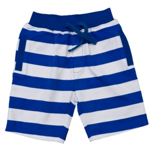 Blau weiß gestreifte Bermuda - People Wear Organic