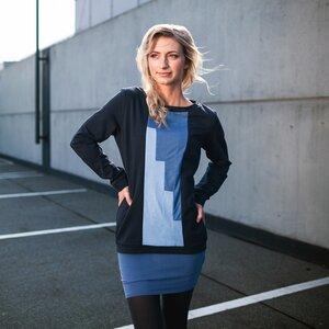Lineal Sweater dunkelblau - eisbörg