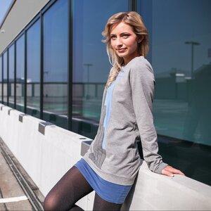 Lineal Sweater grau x blau - eisbörg