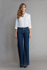 Fiona Rinse/White - SEY organic Jeans