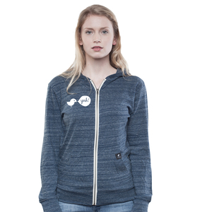 Light Zip Hoody Women Dark Heather Blue Birdy Hey - SILBERFISCHER