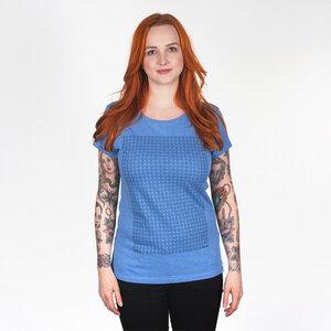 779°C WOMEN T-SHIRT MID HEATHER BLUE - HAFENDIEB