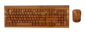 Wireless Tastatur und Maus aus Bambus (Set) - BambooTech