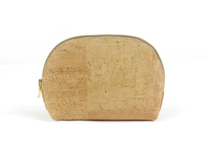 Schminktasche / Schminktäschchen aus Korkleder (Kork) - beige - Simaru