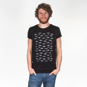 FISCHPLATTE MEN T-SHIRT BLACK - HAFENDIEB