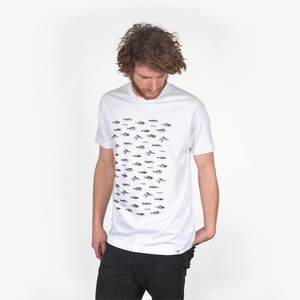 FISCHPLATTE MEN T-SHIRT WHITE - HAFENDIEB