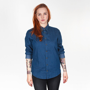 MOI SCHIET UNISEX DENIM SHIRT MID DENIM - HAFENDIEB