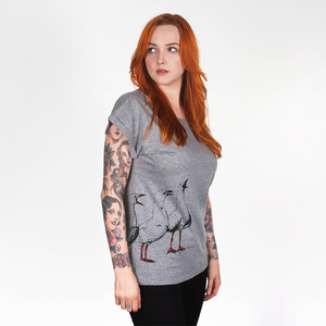 MÖWEN WOMEN T-SHIRT MELANGE GREY - HAFENDIEB