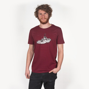 SCHLEPPER MEN T-SHIRT BURGUNDY - HAFENDIEB