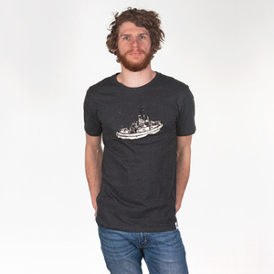 SCHLEPPER MEN T-SHIRT DARK HEATHER GREY - HAFENDIEB