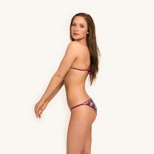 Sundance Triangle Bottoms Reversible Print - Woodlike Ocean