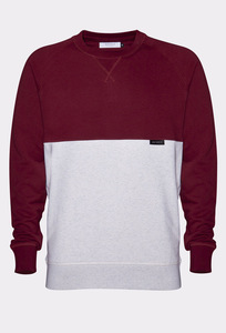 YŪHI Raglan Sweater (Burgundy/Cream) - Rotholz