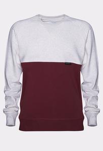 YŪHI Raglan Sweater (Cream/Burgundy) - Rotholz