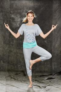 3/4 Yoga Hose grau - People Wear Organic