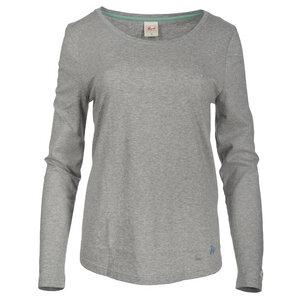 Langarmshirt mit Druck - grau  - People Wear Organic