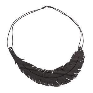Angel Feder Halskette aus recyceltem Reifenschlauch - SAPU