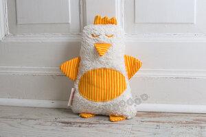 Kuschelkissen Hilda das Huhn in gelb Streifen - tinéba