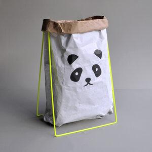 Panda Papiersack Halter neon gelb  - Kolor