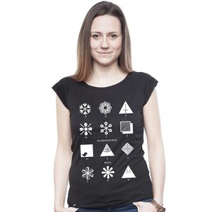 Bamboo Raglan Shirt Women Black 'Fashion' - SILBERFISCHER