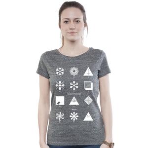 Lowcut Shirt Women Slub Heather Steel 'Fashion' - SILBERFISCHER