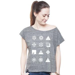 Oversize Shirt Women Slub Heather Steel 'Fashion' - SILBERFISCHER