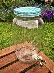 Kombucha- und Wasserkefir-Getränkespender (3,5 Liter) mit Ablasshahn - Wellness-Drinks