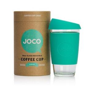 Glas- Kaffebecher to go mit Deckel  - JOCO