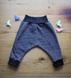 Baby Hose Sweat grau Sprenkel - Lena Schokolade