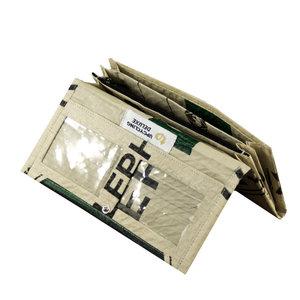 Damen Portemonnaie (einfach gefaltet) aus gebrauchtem Zementsack - Upcycling Deluxe