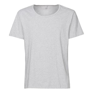 ThokkThokk TT19 Wide Neck T-Shirt Grey Melange - THOKKTHOKK