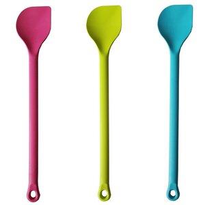 Drei farbig spitze Kochlöffel aus Biokunststoff - Biodora