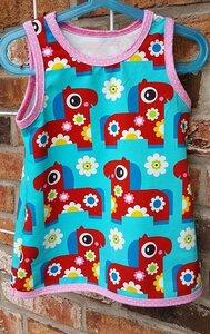 Trägerkleid Pony Bloom türkisblau - Omilich