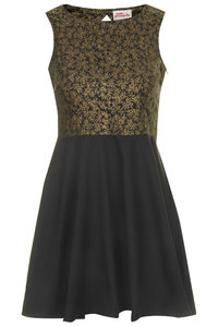 SIBAL OPEN BACK DRESS GOLD VINE - Annie Greenabelle