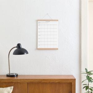 Set / Familien-Wochenplaner + Posterleiste Eiche A3 - Kleinwaren / von Laufenberg