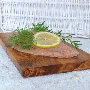 Räucherbrett eckig (ca. 25 x 15 cm) aus Olivenholz - Olivenholz erleben