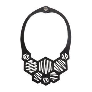 Honeycomb handgefertigte Halskette aus recyceltem Reifenschlauch - SAPU