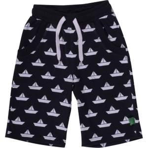 Boat Shorts navy - Green Cotton