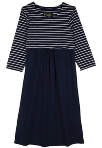 Long Sleeve Dress navy Iris - Frugi Mother