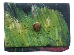 Leesha WILDe Upcycling Mini Portemonnaie Dunkel Bunt - Leesha