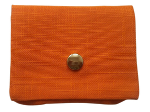 Tampontasche Grob Orange, Upcycling von Leesha - Leesha