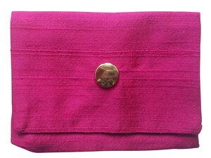 Leesha WILDe Upcycling Tampon Tasche Grob Pink - Leesha