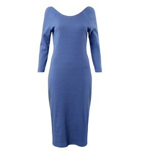 Kleid MALALA RIB ocean blue - JAN N JUNE
