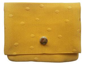 Leesha WILDe Upcycling Portemonnaie Gelbe Punkte aus Stoff - Leesha
