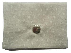 Leesha WILDe Upcycling Portemonnaie Sterne Beige aus Stoff - Leesha