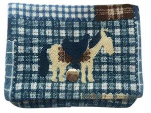 Leesha WILDe Upcycling Portemonnaie Blaues Pferd aus Stoff - Leesha