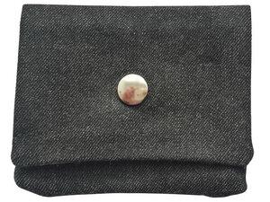 Leesha WILDe Upcycling Portemonnaie Schwarze Jeans aus Stoff - Leesha